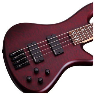 Schecter Stiletto Custom-4 Bass Guitar, Red