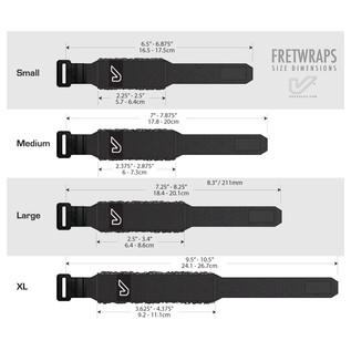 Gruv Gear FretWraps HD Flare Orange 1-Pack, Large