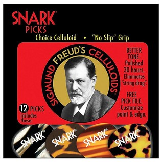 Snark Picks 1.0mm Sigmund Freud Celluloid, 12 Pack