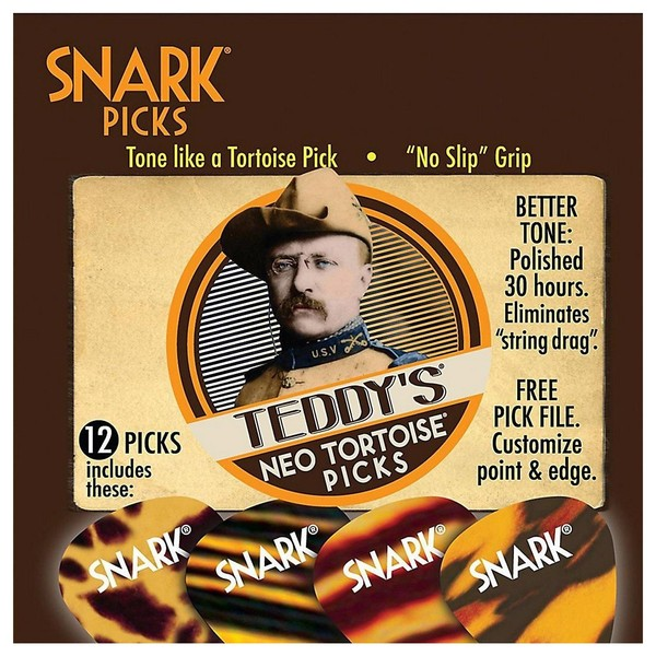 Snark Picks 0.78mm Teddys Neo Tortoise, Players Pack of 12
