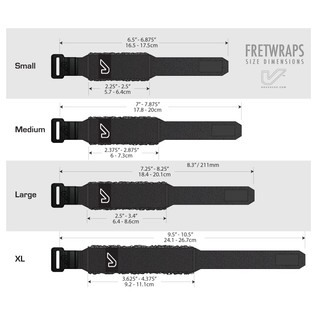 Gruv Gear Black FretWraps 3-Pack, Large