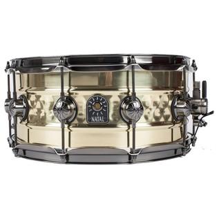 Natal 'Meta Series' Brass Centre Hammered 13x6.5 Snare Drum