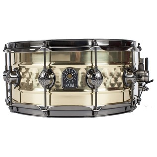 Natal 'Meta Series' Brass Centre Hammered 13x6.5 Snare Drum