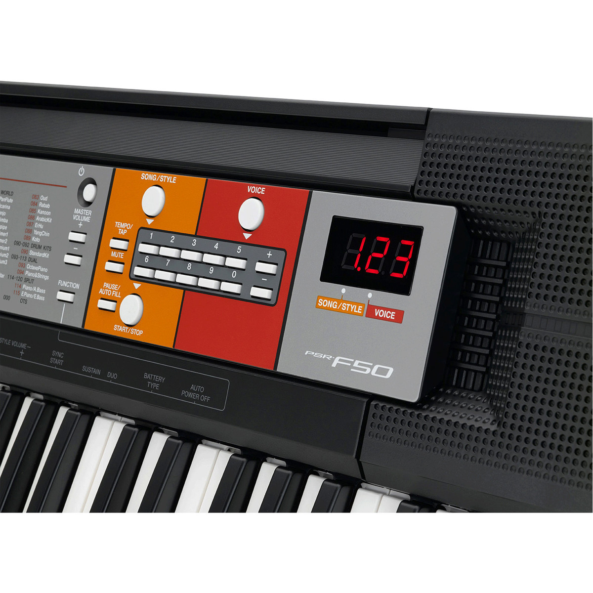 Yamaha psr f50 portable keyboard b stock at for Yamaha professional keyboard price
