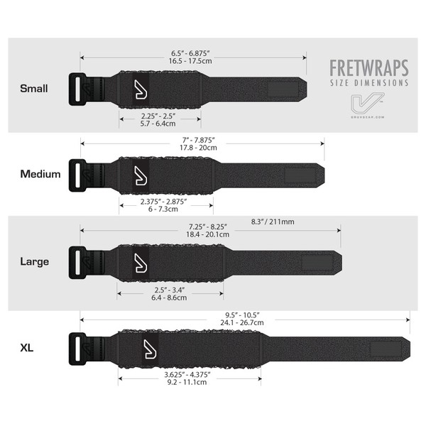 Gruv Gear FretWraps Three Pack Large Black