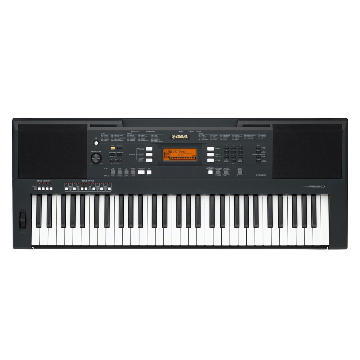 Yamaha PSR A350 Oriental Portable Keyboard, Black at ...