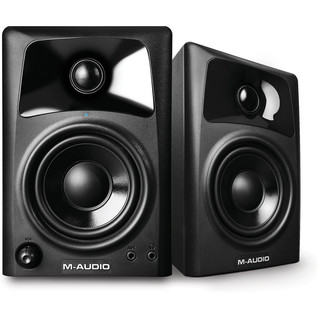 M-Audio AV32.1 2.1-Channel Powered Speaker System - Side (Pair)