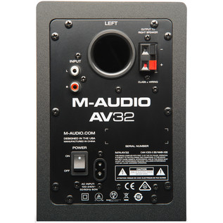 M-Audio AV32.1 2.1-Channel Powered Speaker System - Rear View
