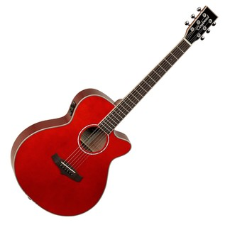 Tanglewood Evolution TSFCE Folk Cutaway, Red