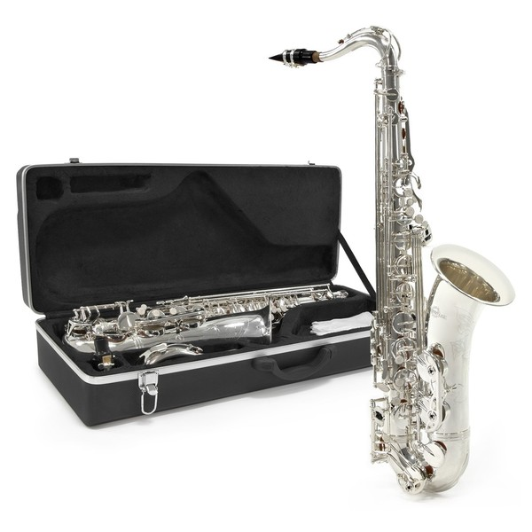 Tenor Saxophone by Gear4music + Complete Pack, Nickel