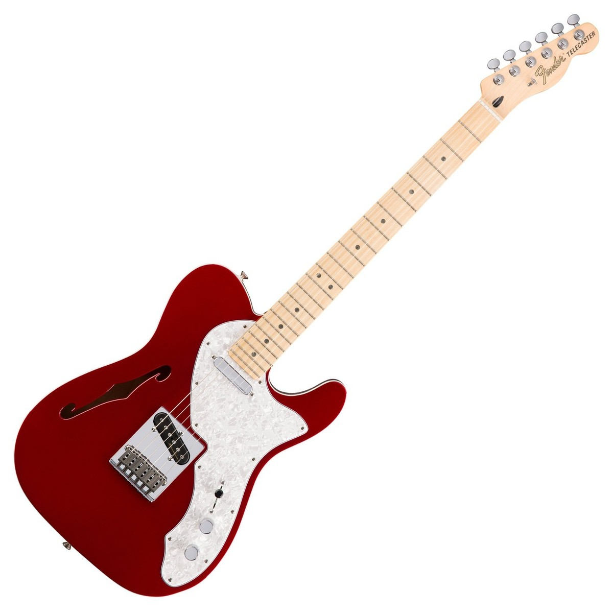 fender deluxe telecaster thinline electric guitar candy apple red at. Black Bedroom Furniture Sets. Home Design Ideas