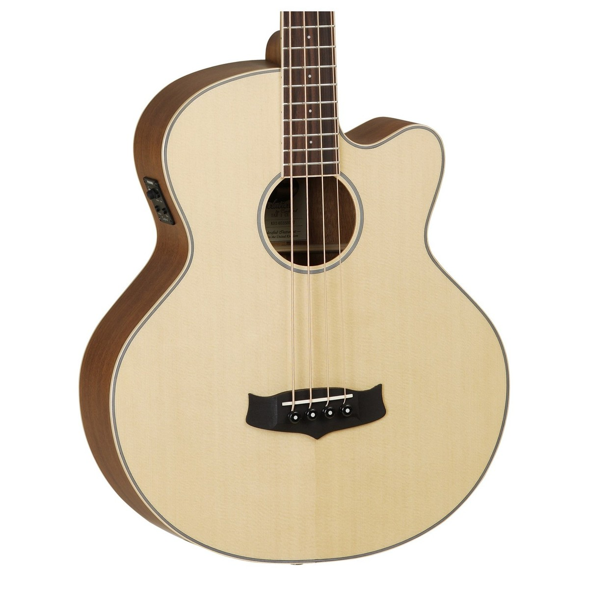 disc tanglewood tab1 cutaway electro acoustic bass guitar natural at gear4music. Black Bedroom Furniture Sets. Home Design Ideas