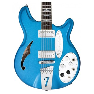 Italia Jeffrey Foskett Signature Electric Guitar, Blue