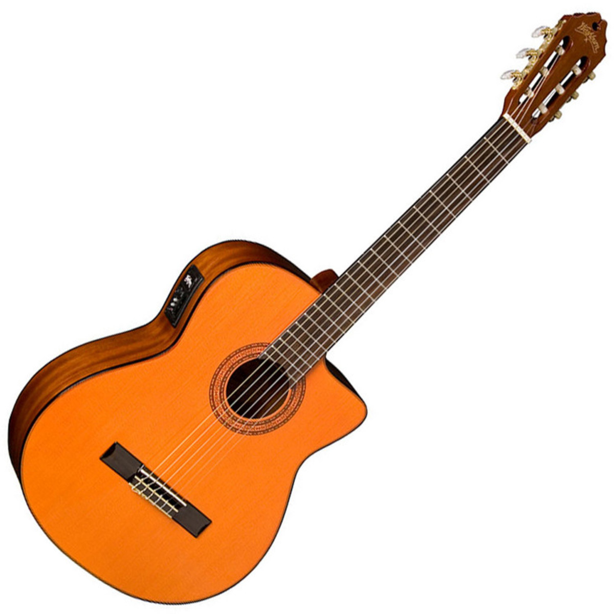 washburn c5ce classical nylon string electro acoustic guitar natural box opened at gear4music. Black Bedroom Furniture Sets. Home Design Ideas