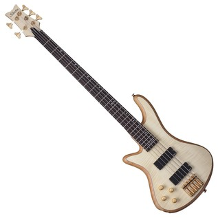 Schecter Stiletto Custom-5 Left Handed Bass Guitar, Natural