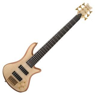 Schecter Stiletto Custom-6 Bass Guitar, Natural