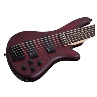 Schecter Stiletto Custom-6 Bass Guitar, Vampyre Red