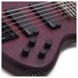 Schecter Stiletto Custom-6 Bass Guitar, Red