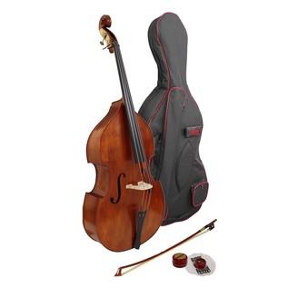 Hidersine Vivente Double Bass Outfit, 3/4 Size