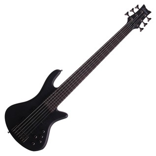 Schecter Stiletto Studio-6 Bass Guitar, See-Thru Black