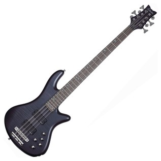 Schecter Stiletto Studio-8 Bass Guitar, See-Thru Black