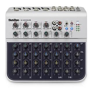 SubZero SZ-MIX08USB 8-Channel Mini Mixer with USB by Gear4music