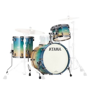 Tama Starclassic Maple 20'' Shell Pack, Figured Caribbean Blue Fade