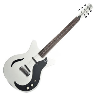 Danelectro DC59M Spruce Electric Guitar, White Pearl/Black