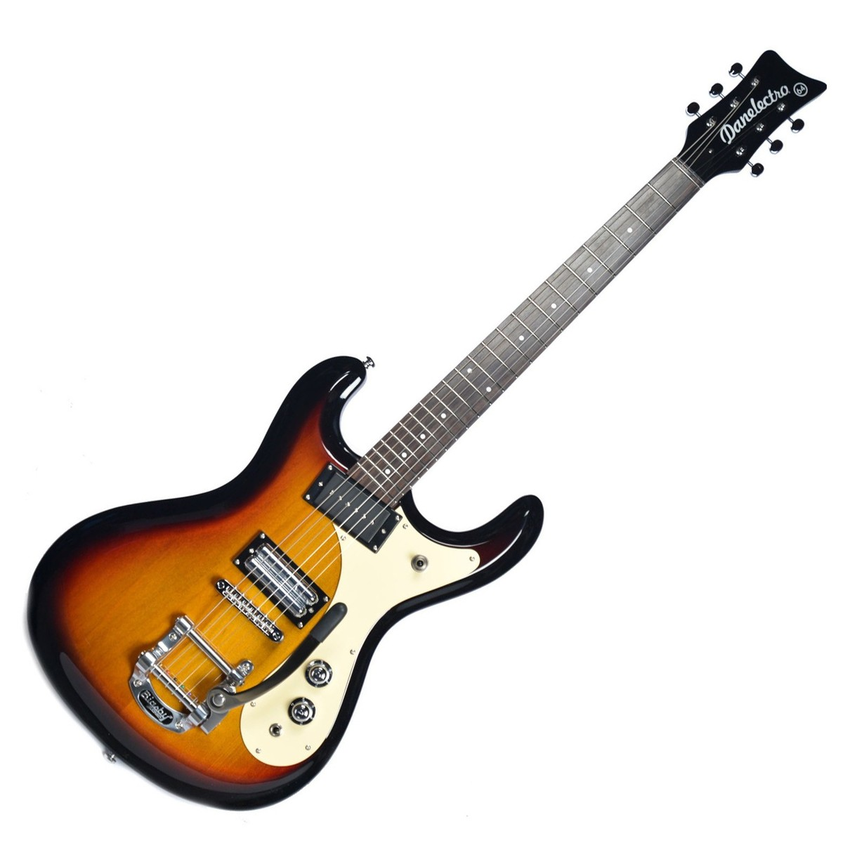 Danelectro 64 electric guitar 3 tone sunburst at gear4music for Luthier guitarra electrica