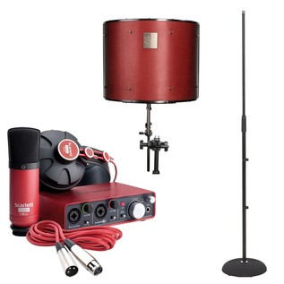 Focusrite Scarlett Studio with LTD sE Reflexion Filter Pro - Main Bundle