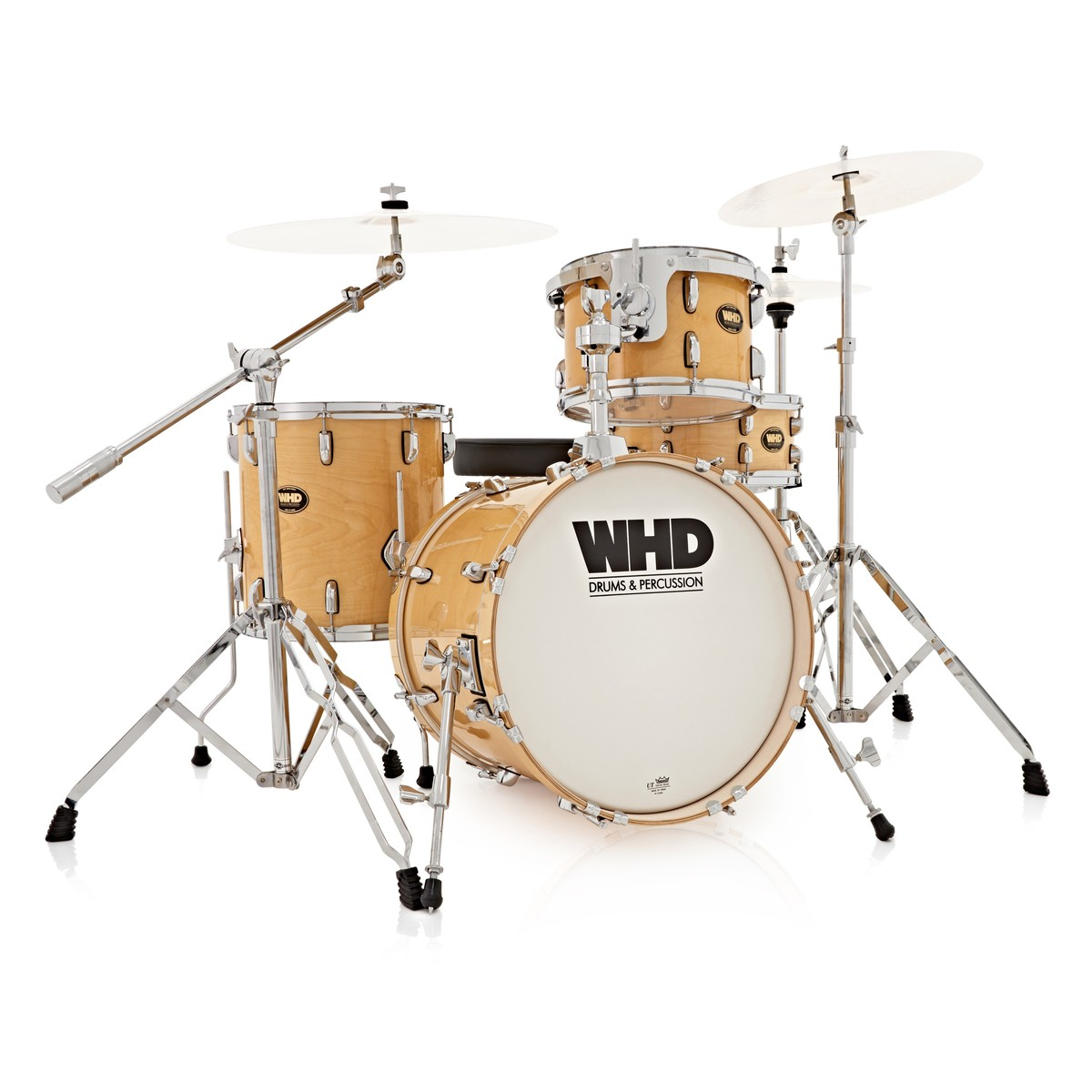 whd birch 4 piece jazz drum kit natural at gear4music. Black Bedroom Furniture Sets. Home Design Ideas