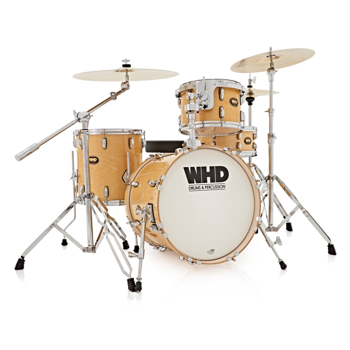 whd birch 4 piece jazz complete drum kit natural at gear4music. Black Bedroom Furniture Sets. Home Design Ideas