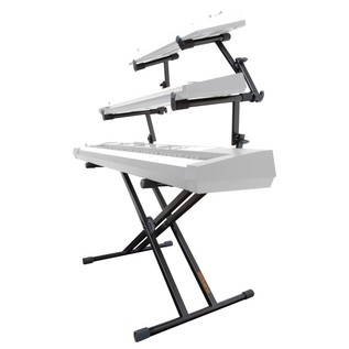 Roland KS-32X Double Braced Keyboard Stand, 3 Tier - Angled (Keyboards Not Included)