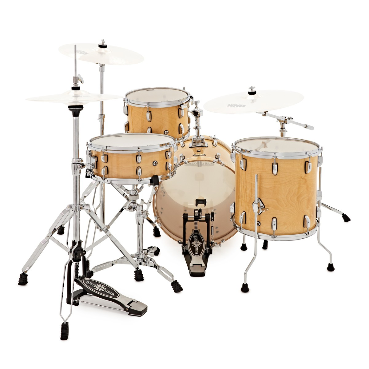 whd elite 4 piece jazz drum kit natural w hardware pack at gear4music. Black Bedroom Furniture Sets. Home Design Ideas