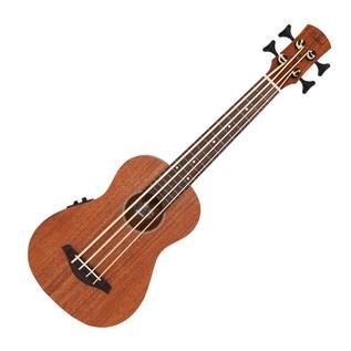 Laka VUB60EA Electro Acoustic Bass Ukulele, Mahogany