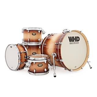 WHD Birch 5 Piece Fusion Complete Drum Kit, Tobacco Burst