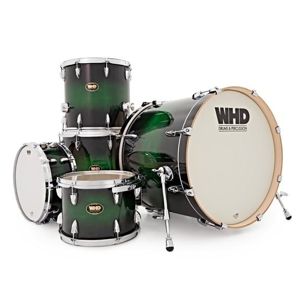 WHD Birch 5 Piece Rock Custom Shell Pack, Green Burst