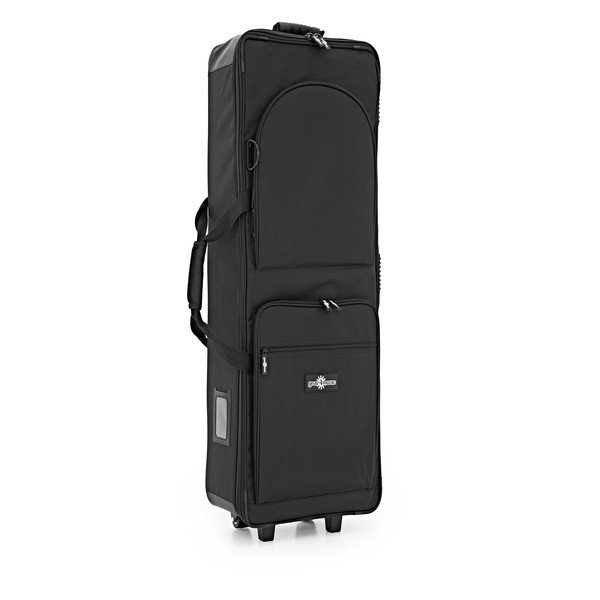 88 Key Lightweight Keyboard Case with Wheels by Gear4music