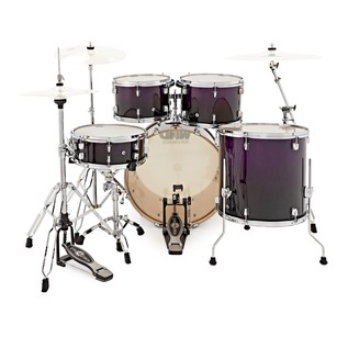 WHD Birch 5 Piece Rock Drum Kit, Purple Fade