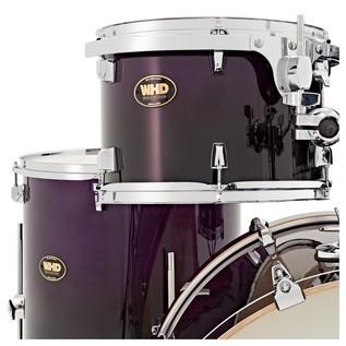 WHD Birch 5 Piece Rock Complete Drum Kit, Purple Fade