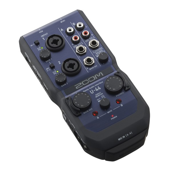 Zoom U-44 Recording Bundle - Zoom U-44 Angled