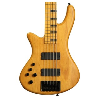 Schecter Stiletto Session-5 Left Handed Bass, Aged Natural Satin