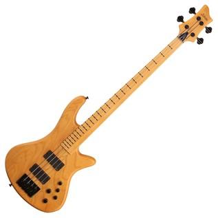 Schecter Stiletto Session-4 FL Bass Guitar, Aged Natural Satin