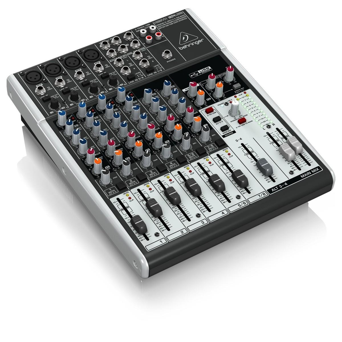 Behringer xenyx 1204usb console de mixage bo te ouverte - Table de mixage professionnelle studio ...