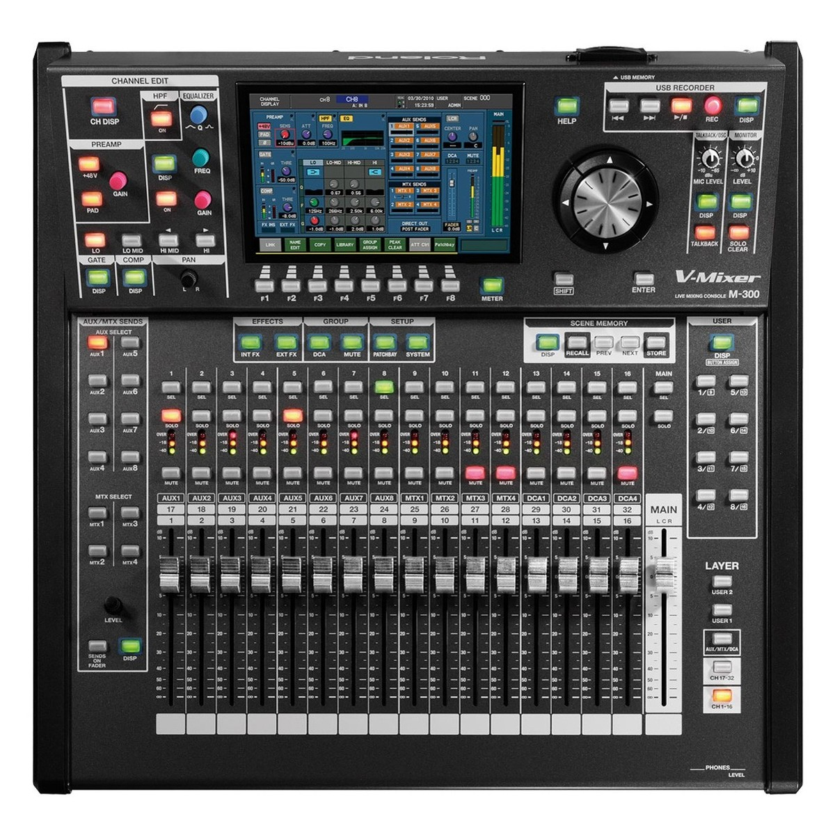 roland m300 32 channel live digital mixing console at gear4music. Black Bedroom Furniture Sets. Home Design Ideas