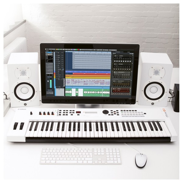 Yamaha MX61 II Music Production Synthesizer, White