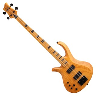 Schecter Riot Session-4 Left Handed Bass Guitar, Aged Natural Satin
