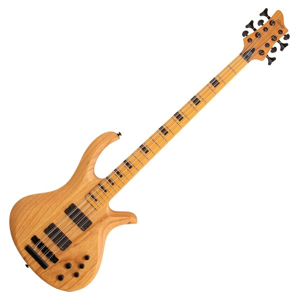 Schecter Riot Session-8 Electric Bass Guitar, Aged Natural Satin