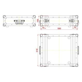 ADJ ACF-SWDDR3 Audio & Lighting Equipment Double-Door Case