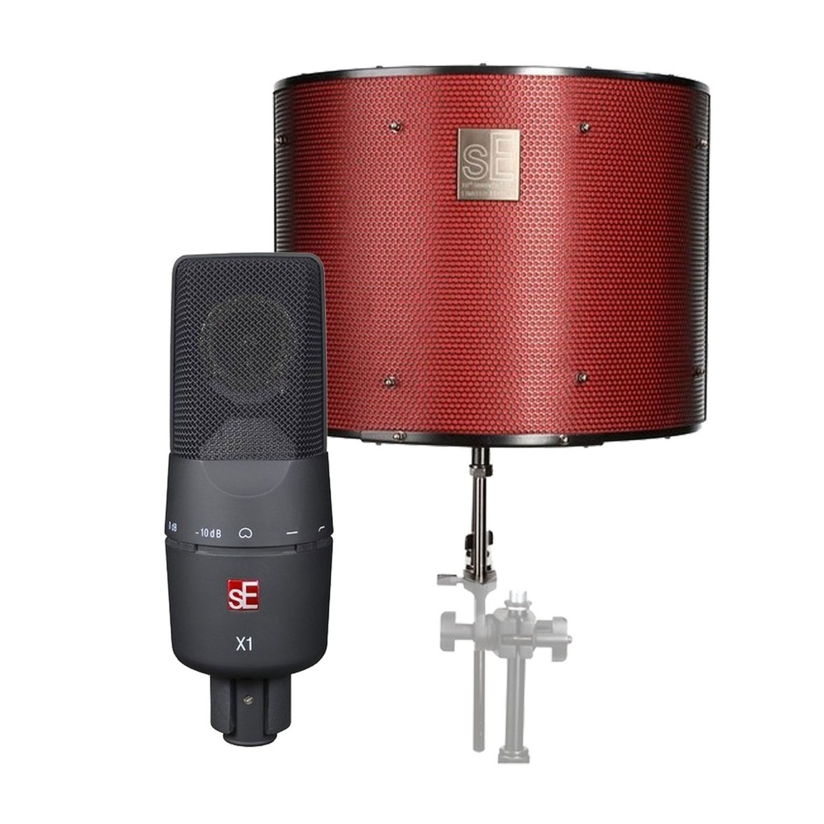 se electronics x1 microphone with reflexion filter pro ltd at gear4music. Black Bedroom Furniture Sets. Home Design Ideas